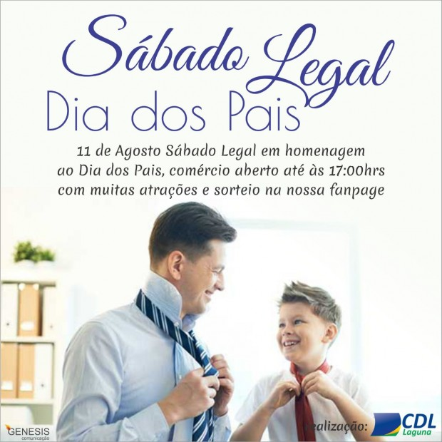 Dia 11 de Agosto é Sábado Legal